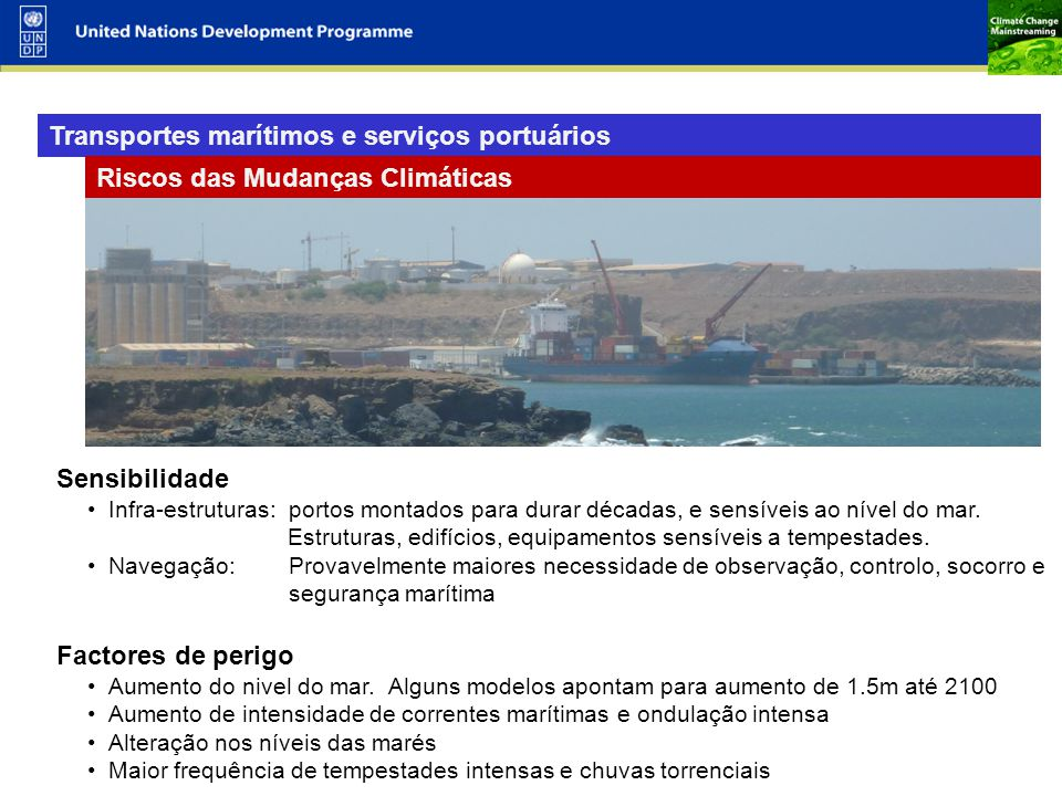 Transportes marítimos e serviços portuários