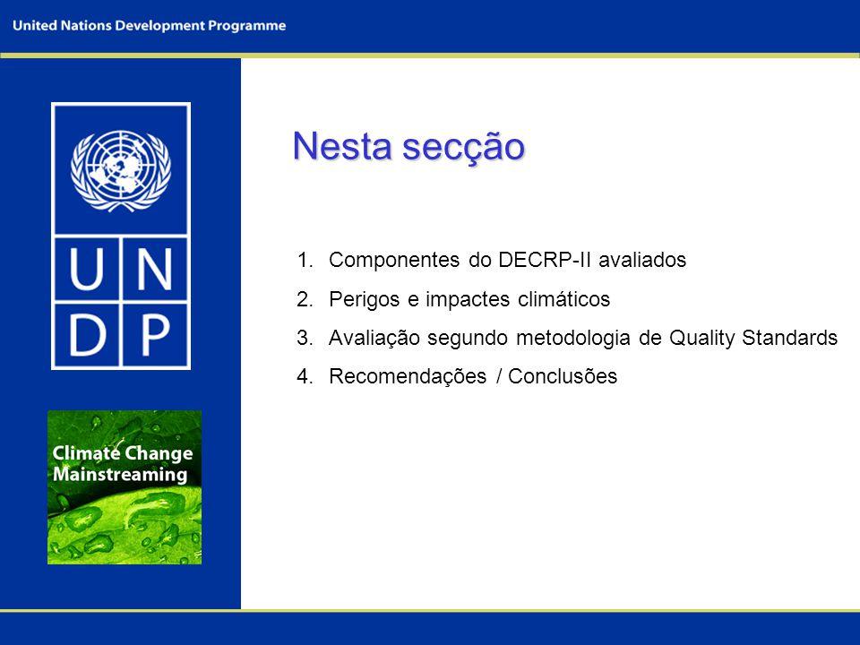 Nesta secção Componentes do DECRP-II avaliados