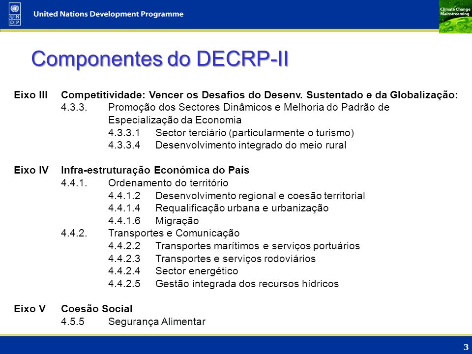 Componentes do DECRP-II