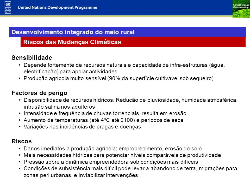 Desenvolvimento integrado do meio rural