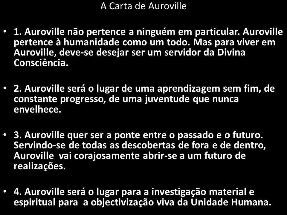 A Carta de Auroville