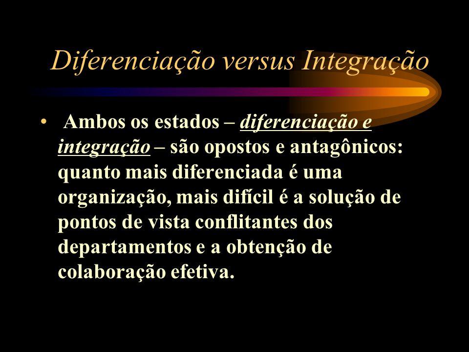Diferenciação versus Integração