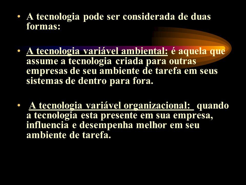 A tecnologia pode ser considerada de duas formas: