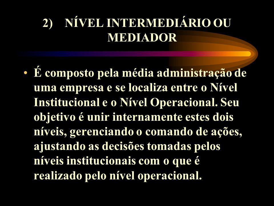 2) NÍVEL INTERMEDIÁRIO OU MEDIADOR