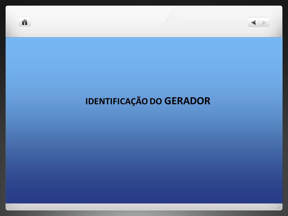IDENTIFICAÇÃO DO GERADOR