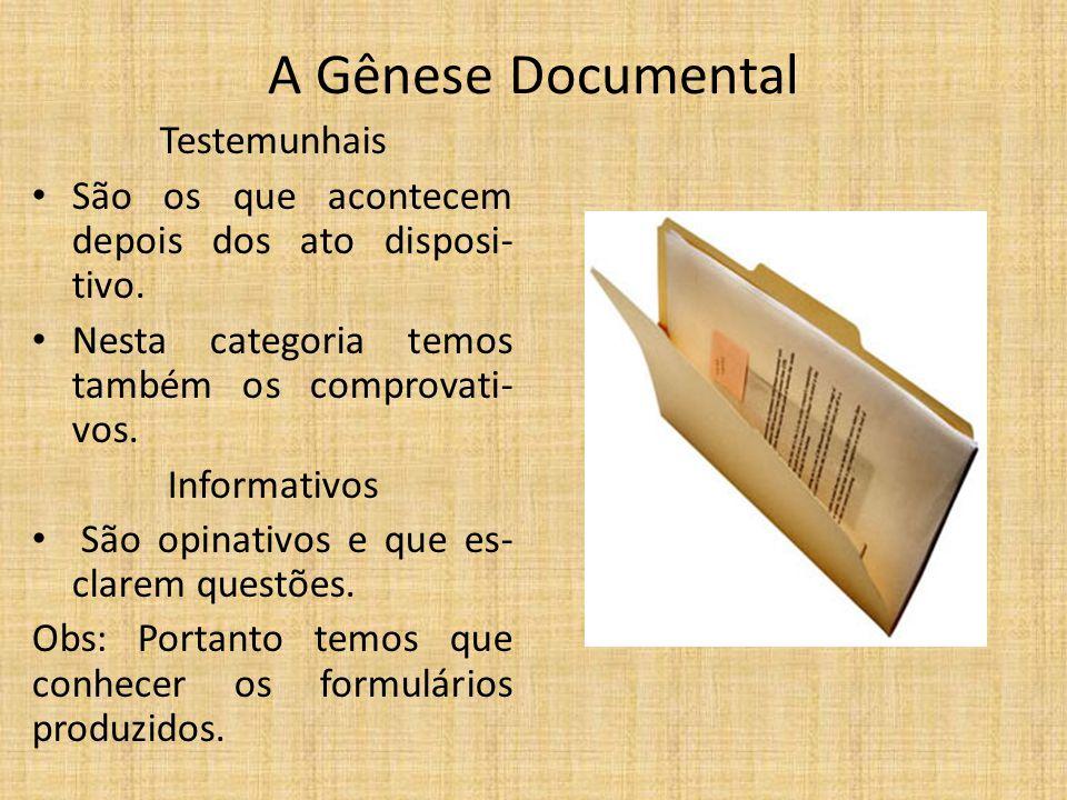 A Gênese Documental Testemunhais