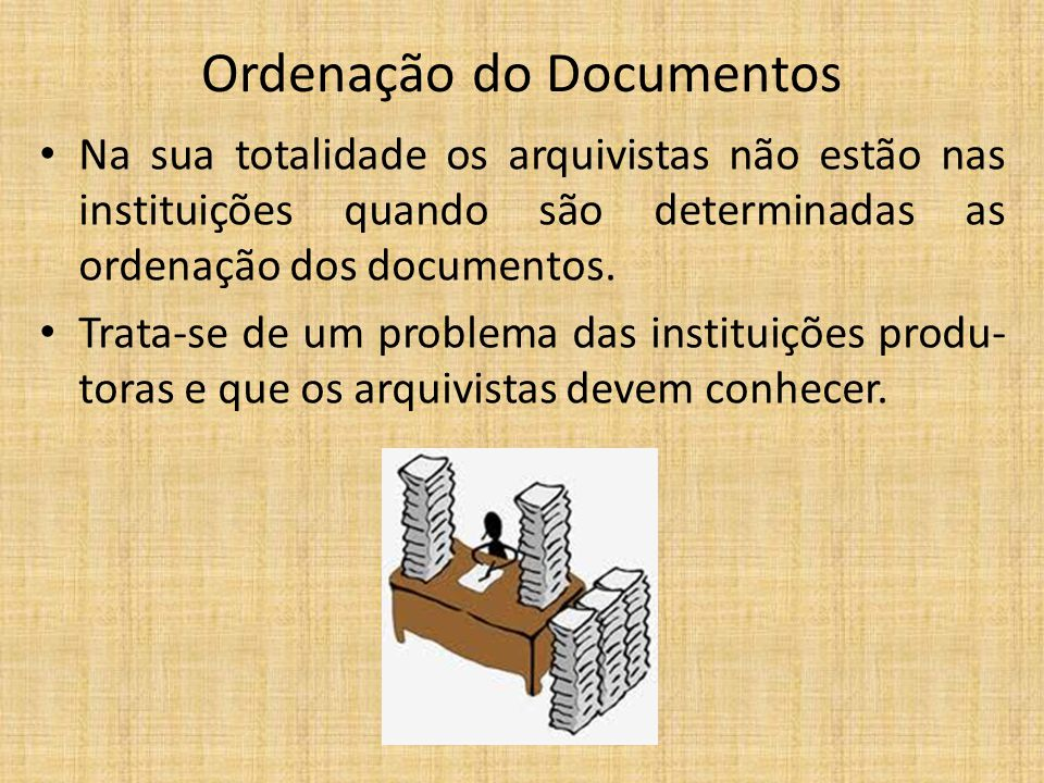 Ordenação do Documentos