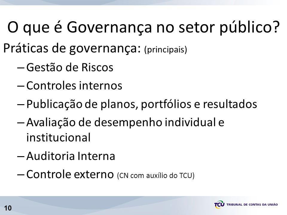 O que é Governança no setor público