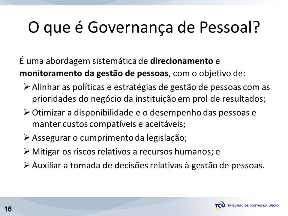 O que é Governança de Pessoal