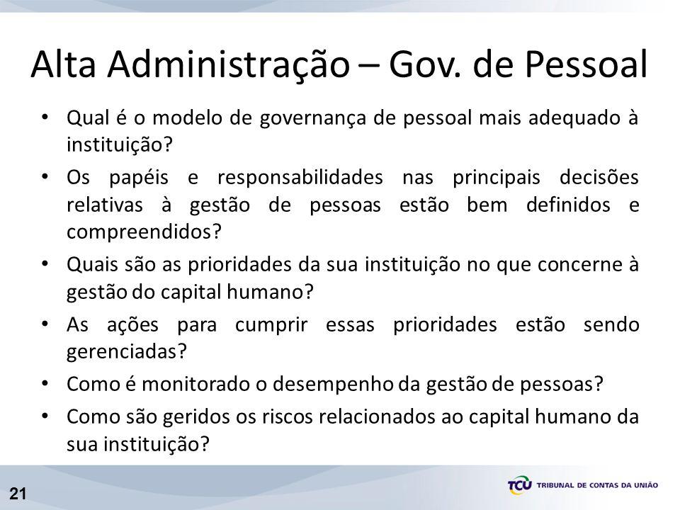 Alta Administração – Gov. de Pessoal