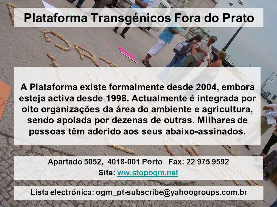 Plataforma Transgénicos Fora do Prato