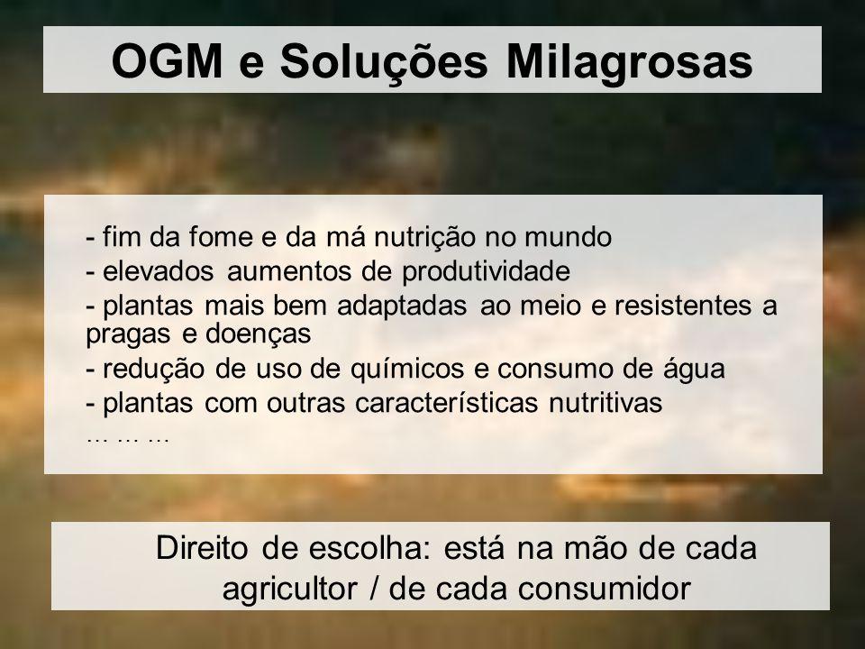 OGM e Soluções Milagrosas