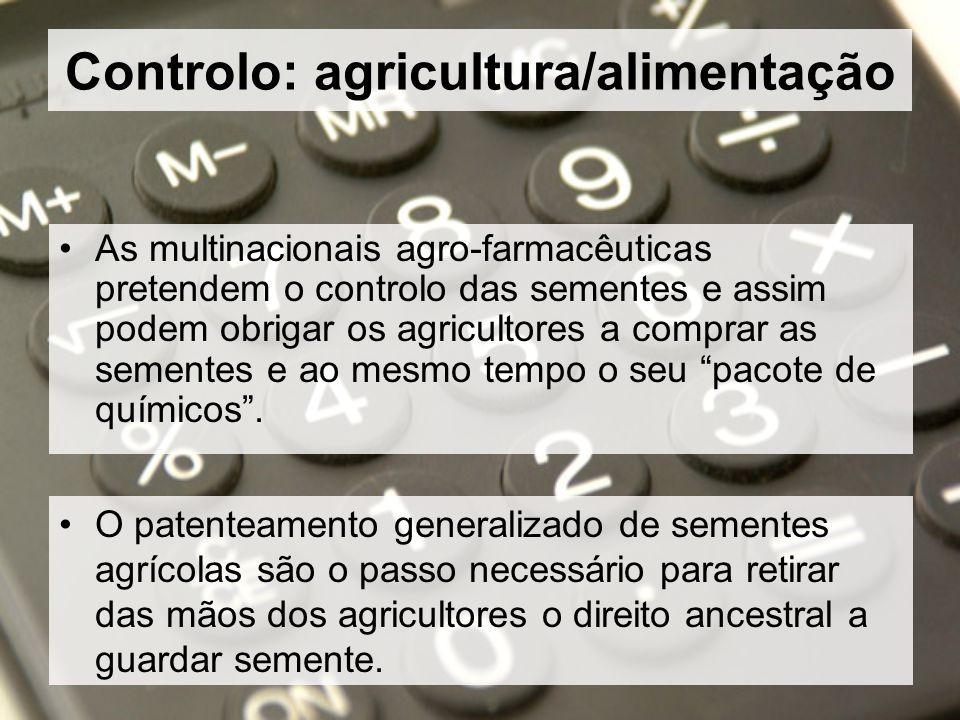 Controlo: agricultura/alimentação