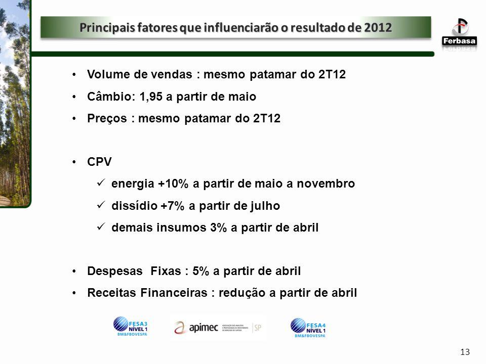 Principais fatores que influenciarão o resultado de 2012