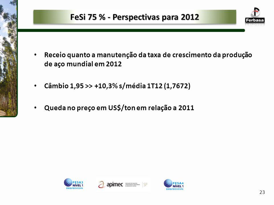 FeSi 75 % - Perspectivas para 2012