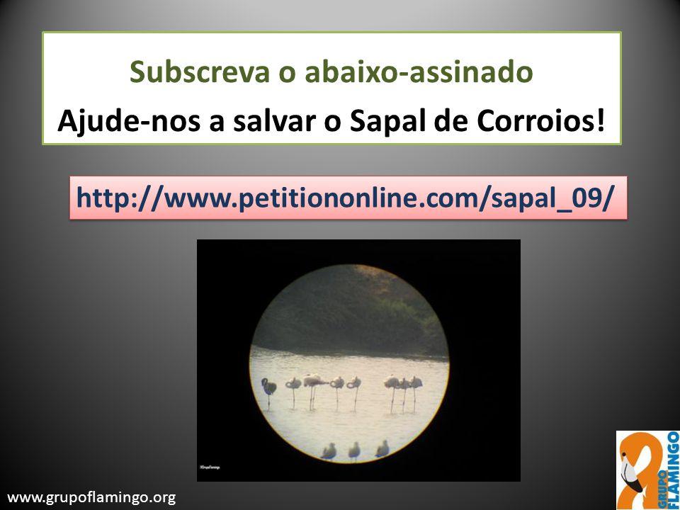 Subscreva o abaixo-assinado Ajude-nos a salvar o Sapal de Corroios!