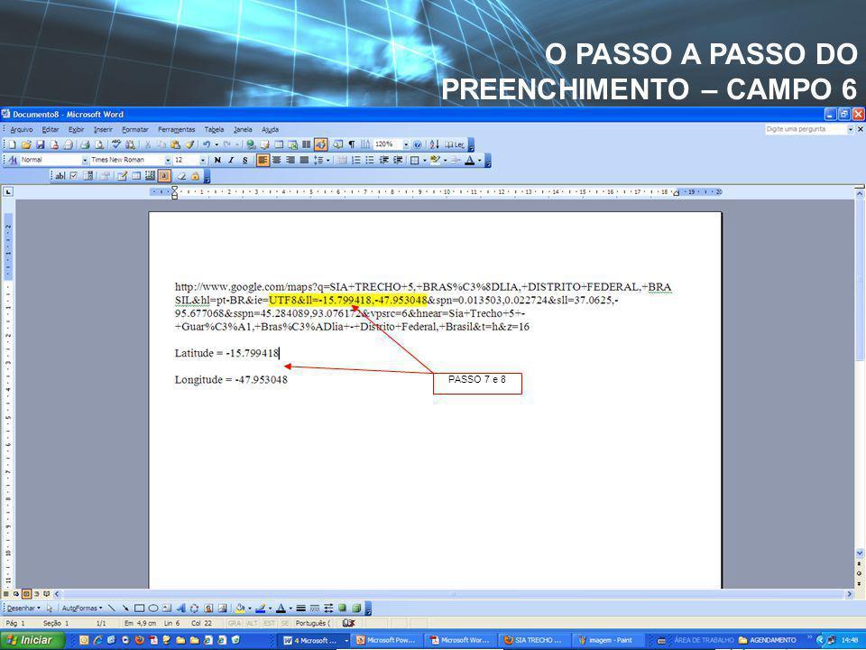PASSO 5 – PLANTA DE INTERESSE. SEDE DA ANVISA