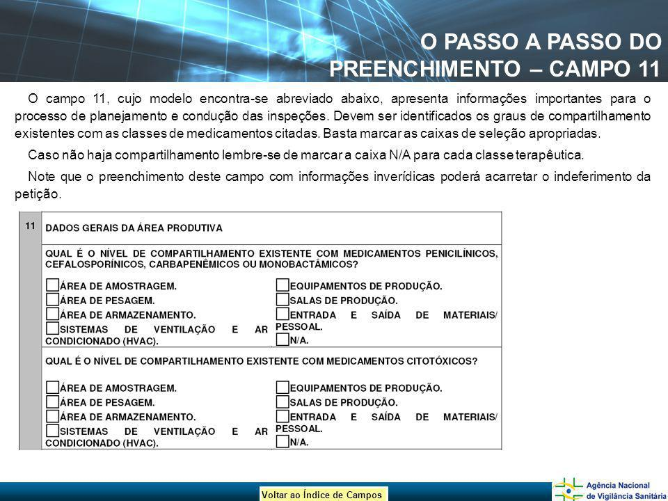 O PASSO A PASSO DO PREENCHIMENTO – CAMPO 11