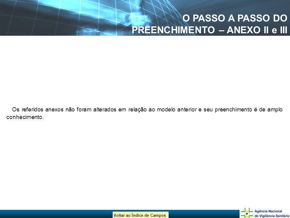O PASSO A PASSO DO PREENCHIMENTO – ANEXO II e III