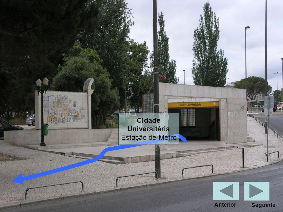 Cidade Universitária Estação de Metro Anterior Seguinte
