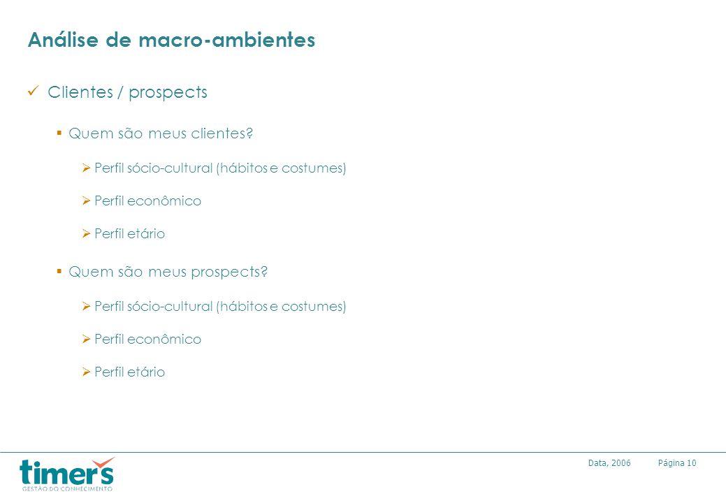 Análise de macro-ambientes