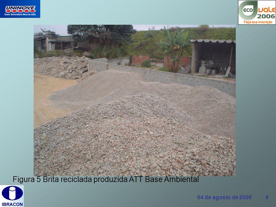 Figura 5 Brita reciclada produzida ATT Base Ambiental