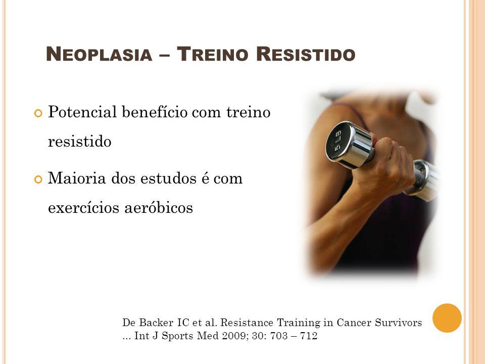 Neoplasia – Treino Resistido