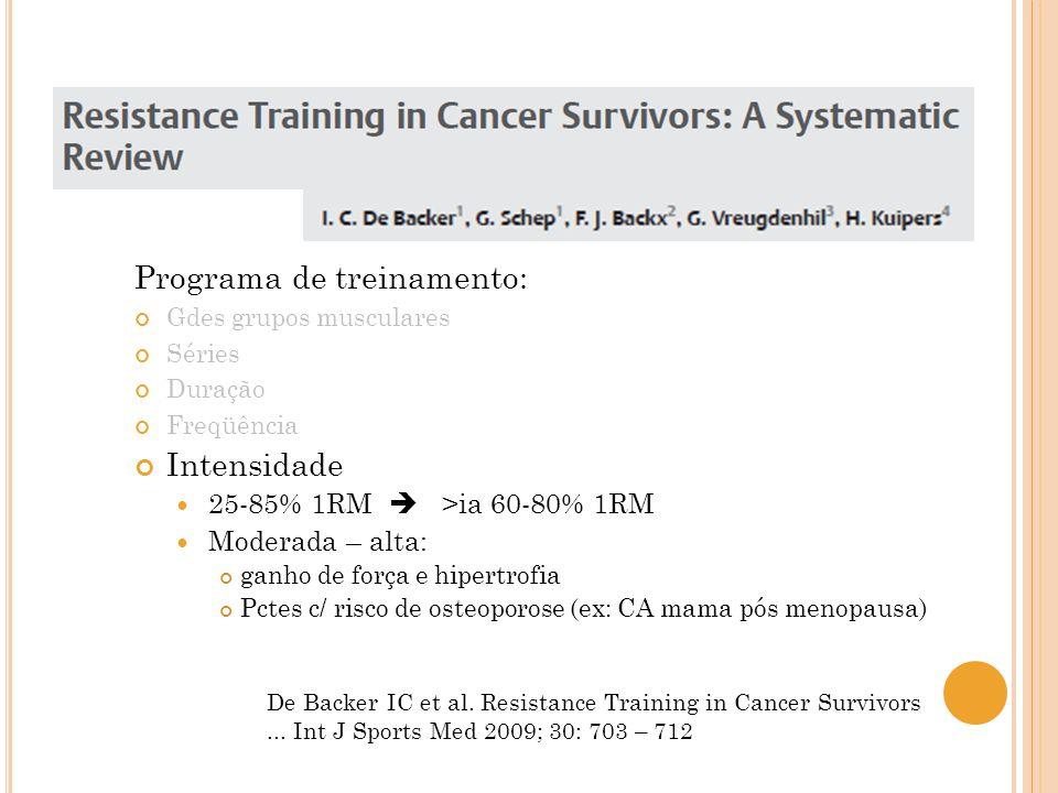 Programa de treinamento:
