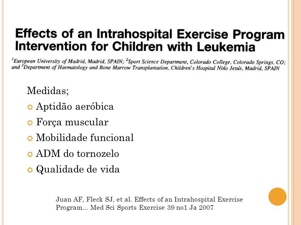 Medidas; Aptidão aeróbica Força muscular Mobilidade funcional