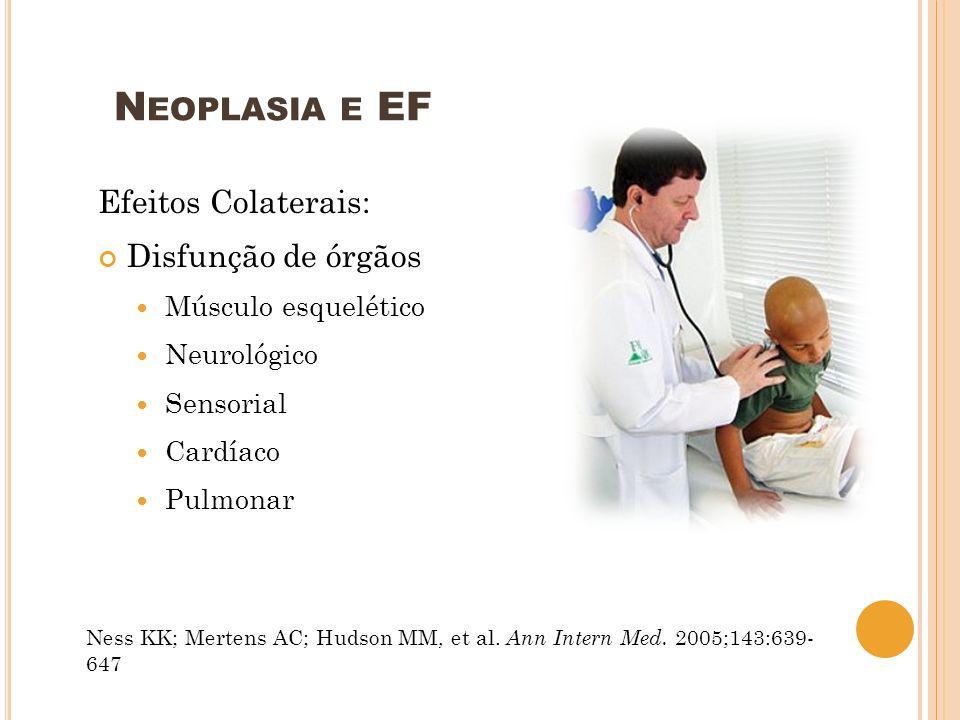Neoplasia e EF Efeitos Colaterais: Disfunção de órgãos