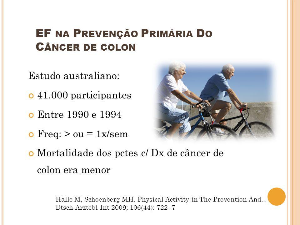 EF na Prevenção Primária Do Câncer de colon