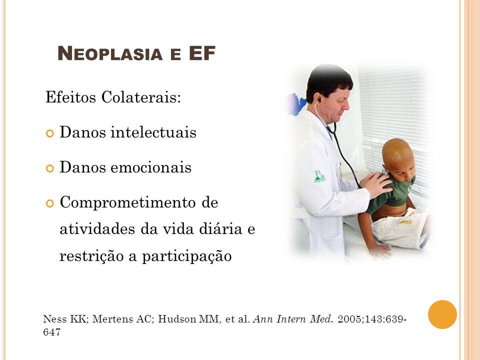 Neoplasia e EF Efeitos Colaterais: Danos intelectuais Danos emocionais