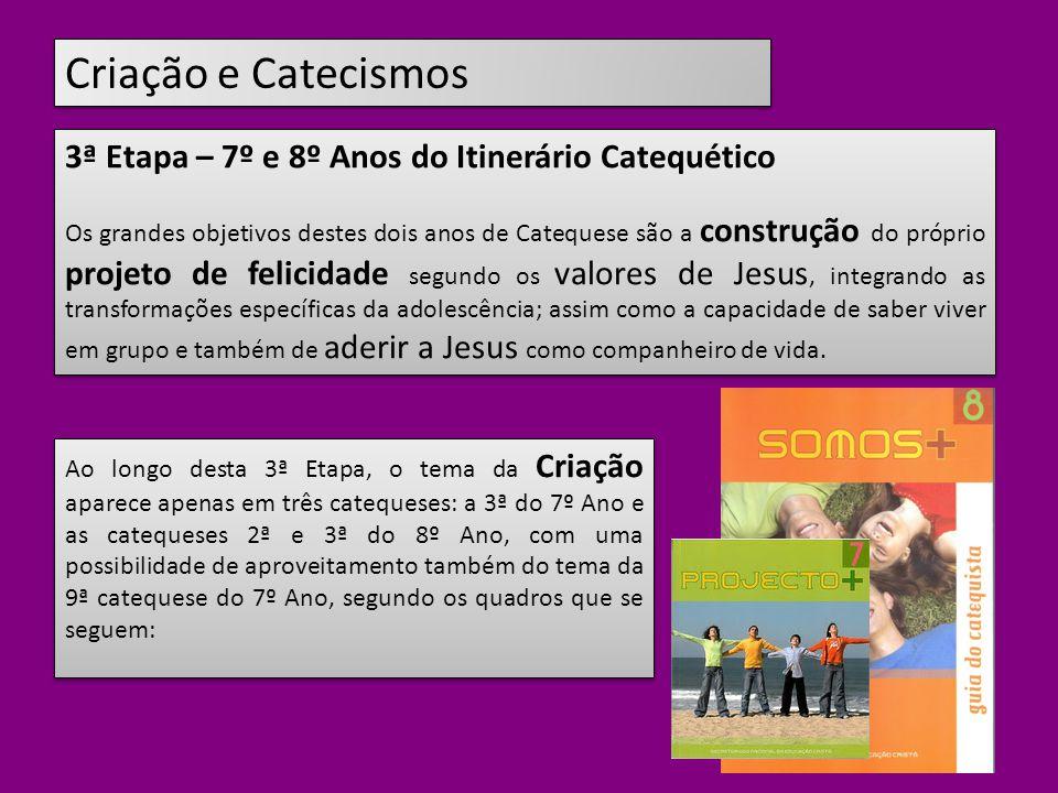 Criação e Catecismos 3ª Etapa – 7º e 8º Anos do Itinerário Catequético