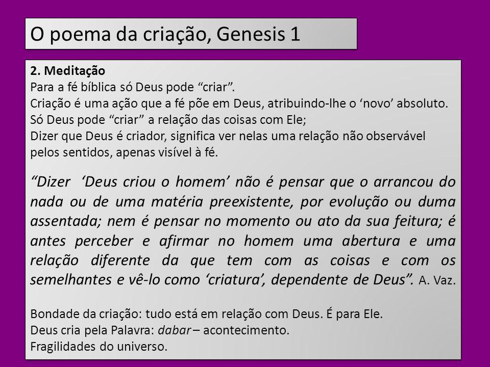 O poema da criação, Genesis 1