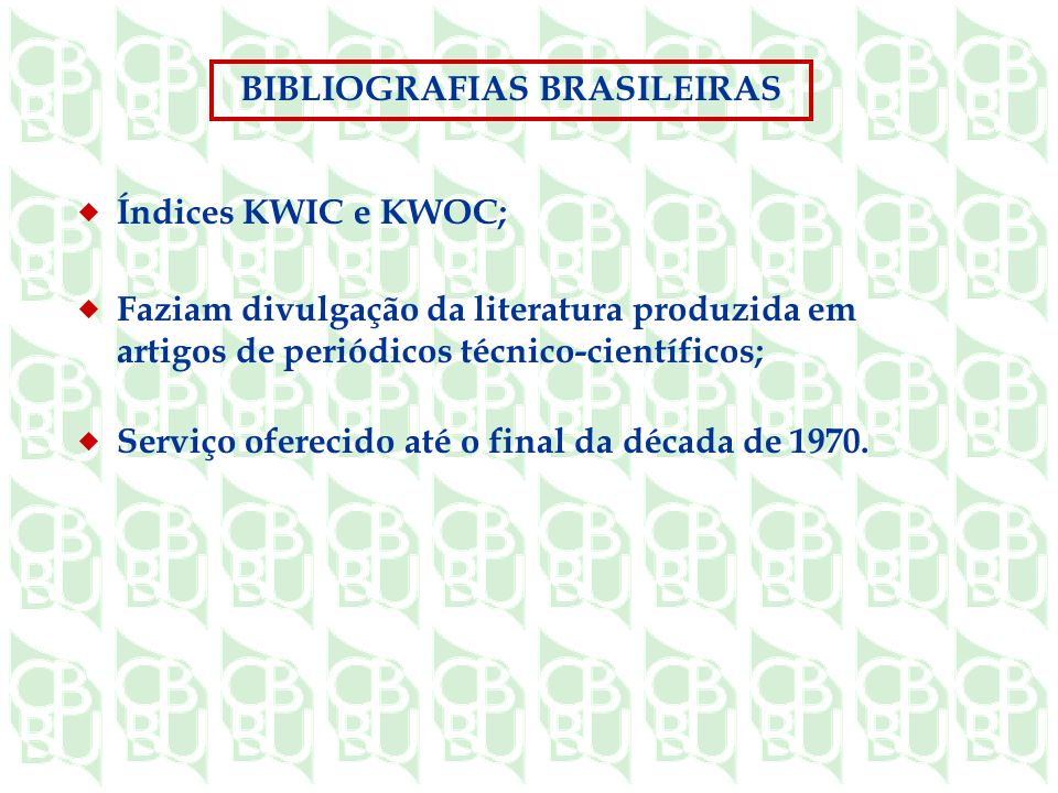 BIBLIOGRAFIAS BRASILEIRAS