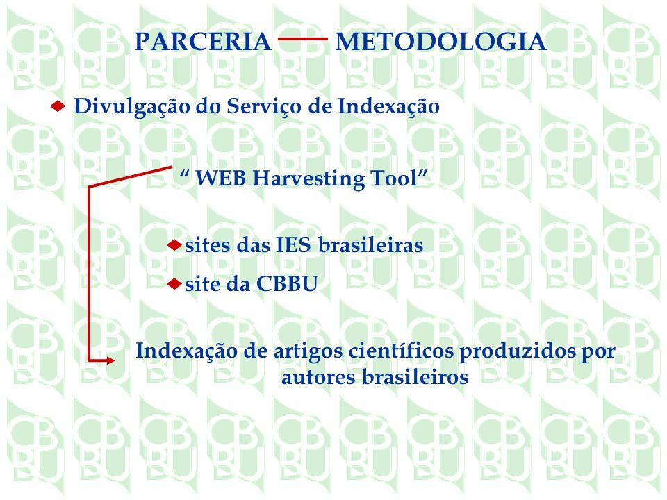 Indexação de artigos científicos produzidos por autores brasileiros