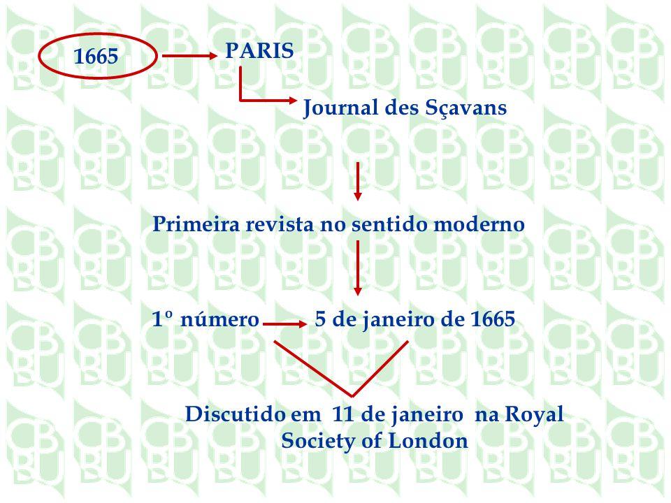 Discutido em 11 de janeiro na Royal Society of London