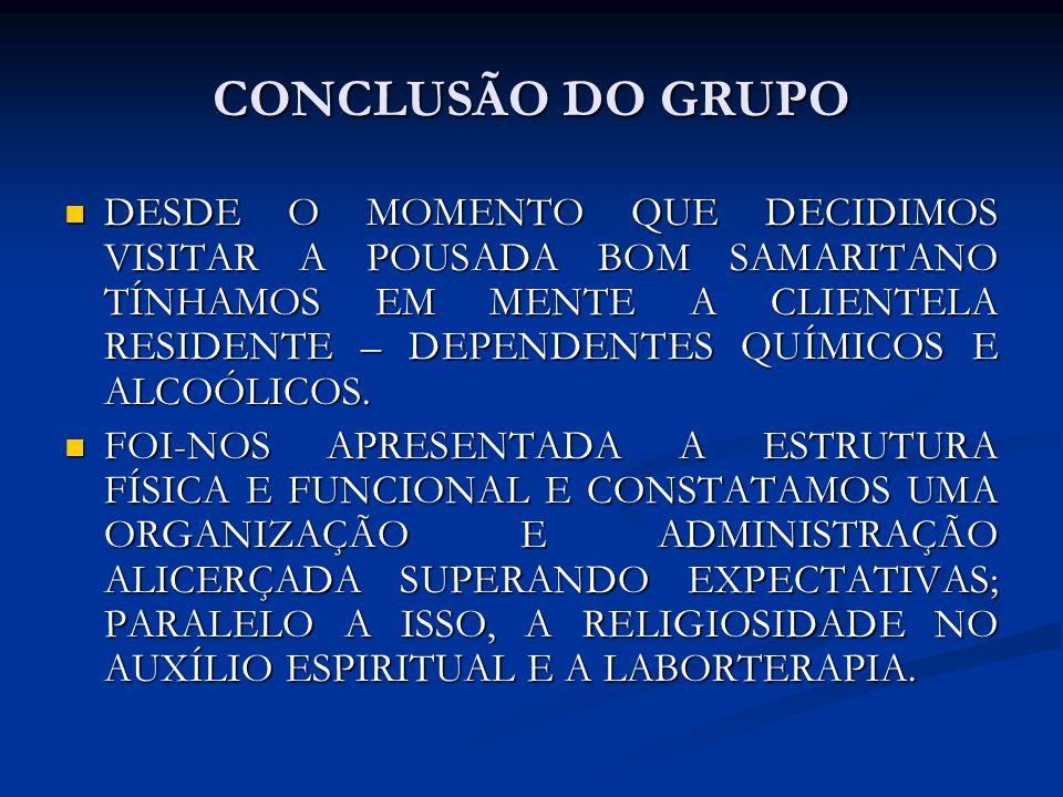 CONCLUSÃO DO GRUPO