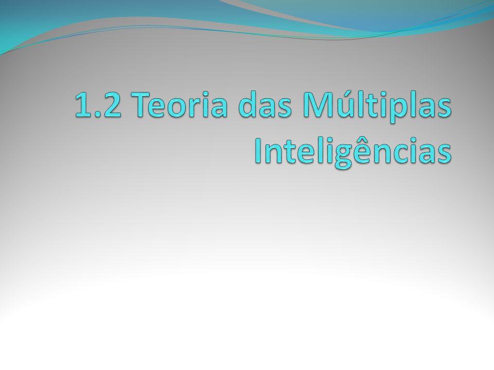 1.2 Teoria das Múltiplas Inteligências