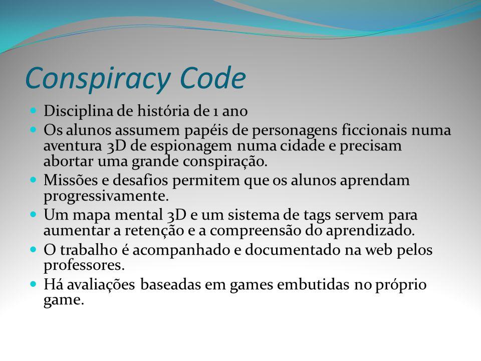 Conspiracy Code Disciplina de história de 1 ano
