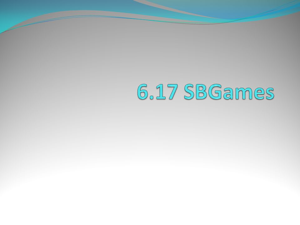 6.17 SBGames