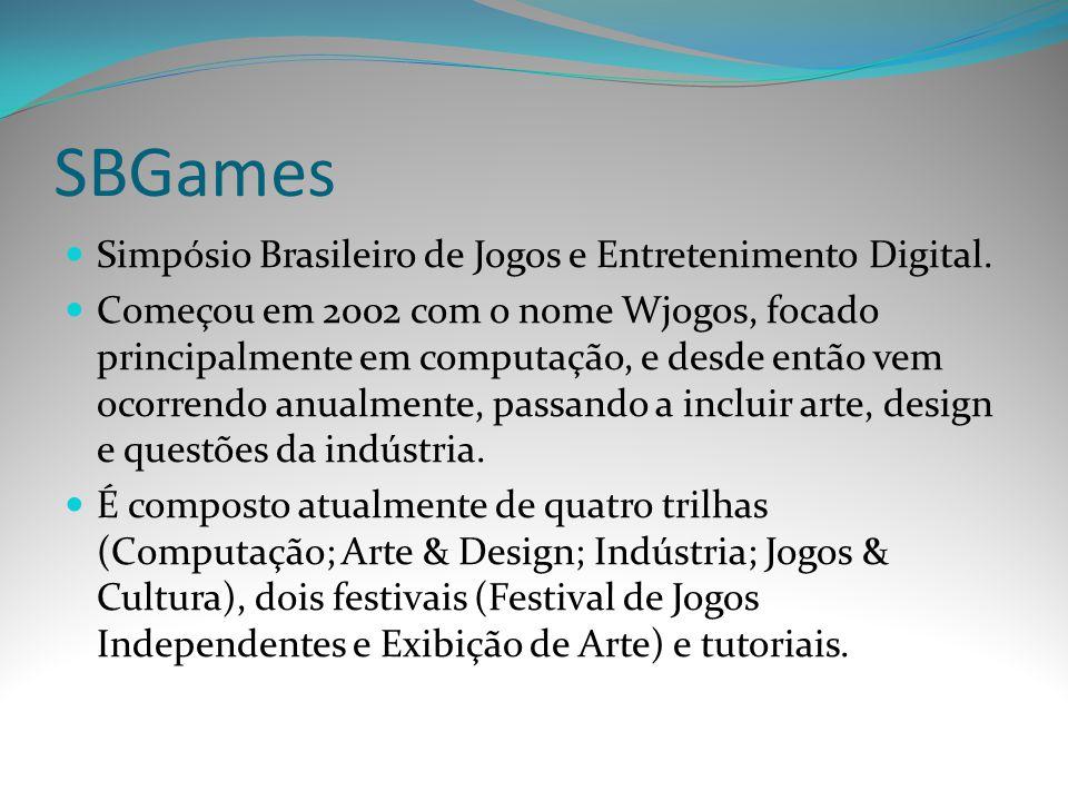 SBGames Simpósio Brasileiro de Jogos e Entretenimento Digital.