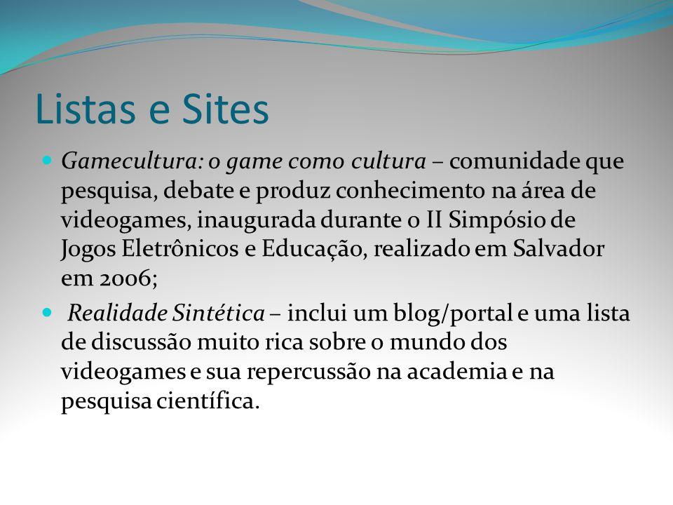 Listas e Sites