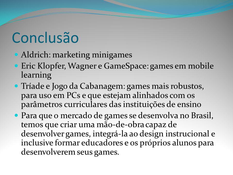 Conclusão Aldrich: marketing minigames