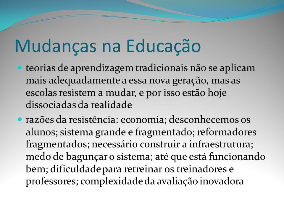 Mudanças na Educação
