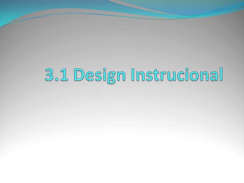 3.1 Design Instrucional