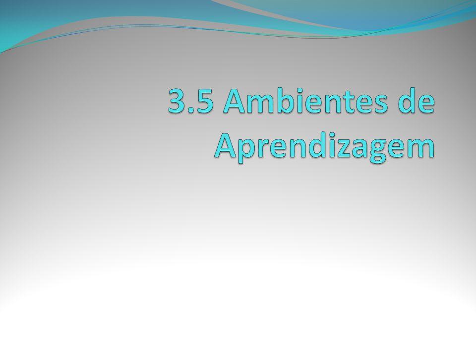 3.5 Ambientes de Aprendizagem