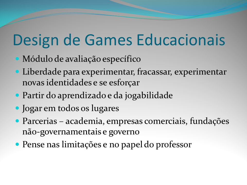 Design de Games Educacionais