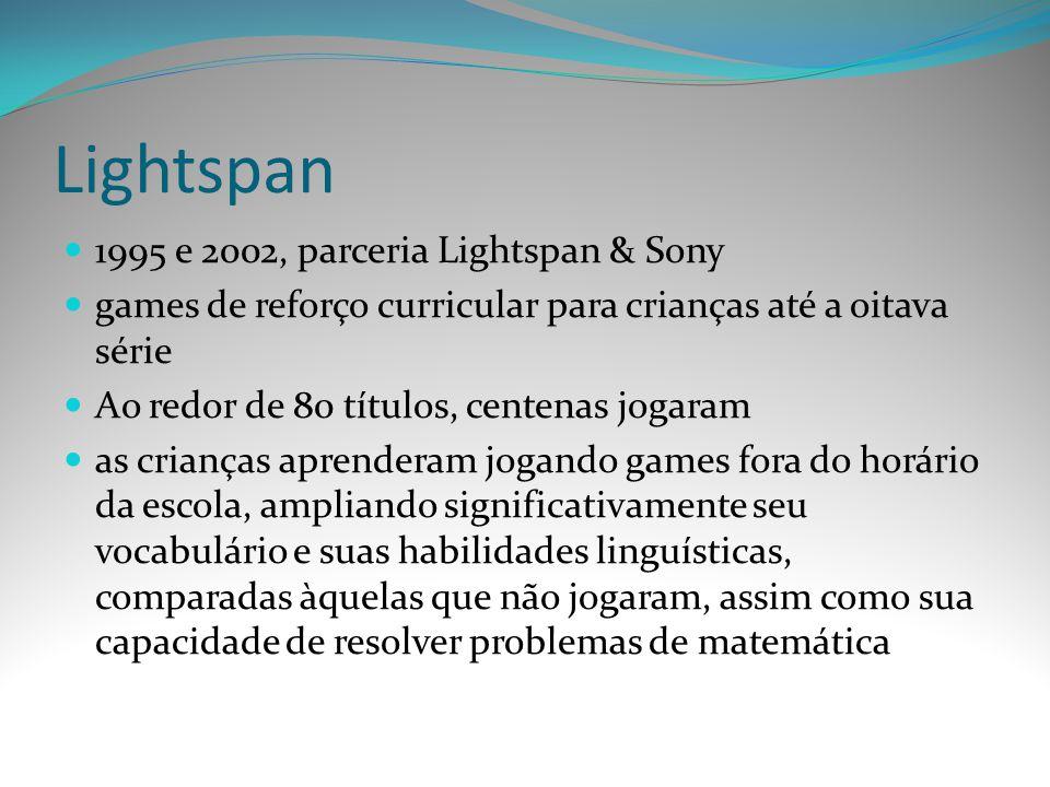 Lightspan 1995 e 2002, parceria Lightspan & Sony
