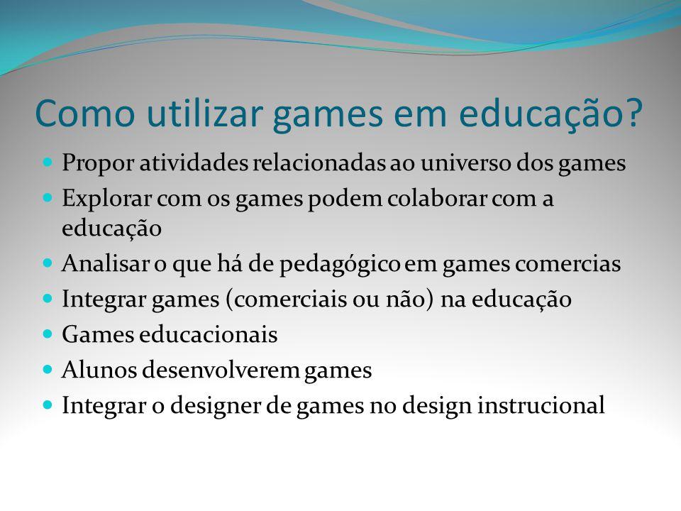 Como utilizar games em educação